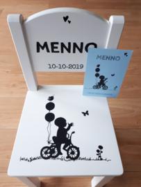 Kinder Stoeltje Menno  getraceerd vanaf het geboortekaartje