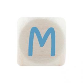 Letterkraal M Blauw