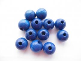 Speenkoord Kraal Hout Donker Blauw 12mm