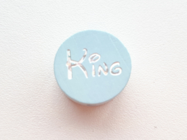 Speenkoord Kraal King Pastel Blauw 20mm