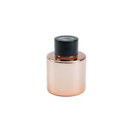 Parfumflesje met geurstokjes Rose/Gold met zwarte dop