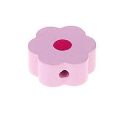 Speenkoord Kraal Bloem klein Roze 16mm
