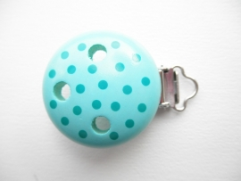 Speenclip Stippen Turquoise