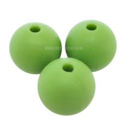 Silicone Kraal Vivid Groen 15mm | voor het maken van een speenketting