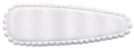 Haarkniphoesje Satijn Wit 5cm