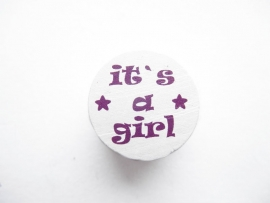 It's a Girl Donker Paars 20mm