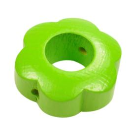 Speenkoord Kraal Bloem Groen 30x30mm