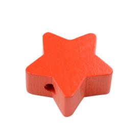Speenkoord Kraal Ster klein Rood 19mm