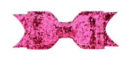 Haarstrik met alligatorklip F.Roze Glitter 9.5cm