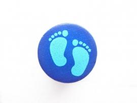Speenkoord Kraal Babyvoetjes Donker Blauw 16mm