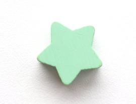 Speenkoord Kraal Ster klein Pastel Groen 19mm