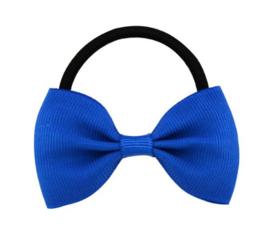Haar elastiekje met strik Kobalt Blauw