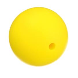 Siliconen Kraal Geel 20mm