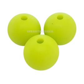Siliconen Kraal Licht Groen 15mm