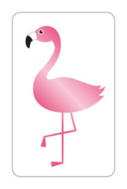 Cadeau sticker Flamingo  | 25x40mm | per 5 stuks