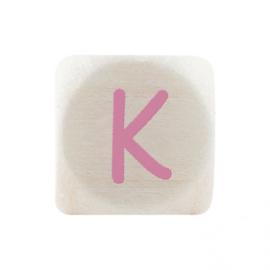 Letterkraal K Roze