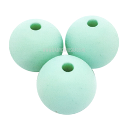 Siliconen Kraal Mint 15mm | voor het maken van een spenenketting