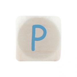 Letterkraal P Blauw