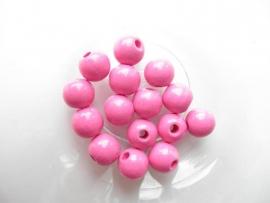 Speenkoord Kralen Fuchsia Roze 8mm