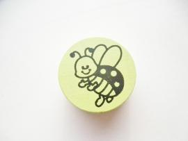 Schijfkraal Lieveheersbeestje Licht Groen 20mm
