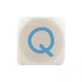 Letterkraal Q Blauw