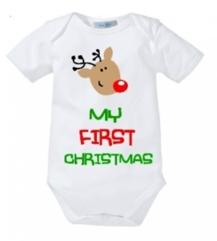 Romper First Christmas