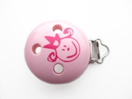Speenclip Baby Licht Roze