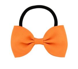 Haar elastiekje met strik Oranje