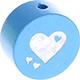 Speenkoord Kraal Hartjes Baby Blauw 20mm