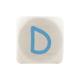 Letterkraal D Blauw
