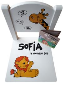 Kinder Stoeltje Sofia getraceerd vanaf het geboortekaartje