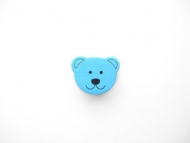 Beer klein Baby Blauw 18x14mm