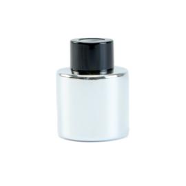 Parfumflesje Zilver met zwarte dop