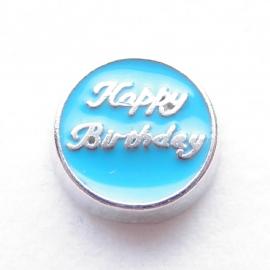 MC018 Happy Birthday Blauw