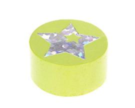 Schijfkraal Ster Glitter Licht Groen 20mm
