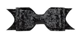 Haarstrik met alligatorklip Zwart Glitter 9.5cm