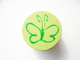 Schijfkraal Vlinder Licht groen 20mm