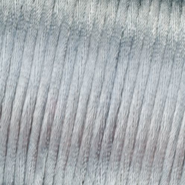 Satijnkoord Zilver Grijs 0.5 meter