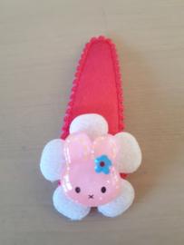 Haarspeldje 5cm Fuchsia Roze haarspeldje | Roze konijntje