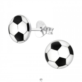 Zilveren Kinder Oorbellen Voetbal