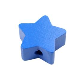 Speenkoord Kraal Ster klein Midden Blauw 19mm