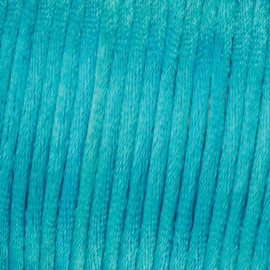 Satijnkoord Turquoise Blauw 0.5 meter