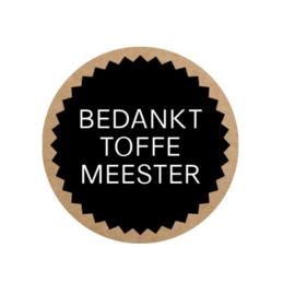 Cadeausticker 'bedankt toffe meester' | 35mm | per 5 stuks