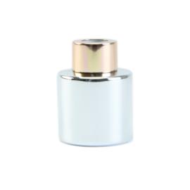Parfumflesje Zilver met  Rose/Gold dop