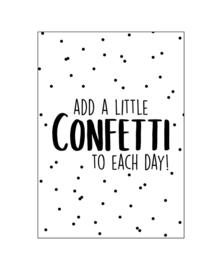 Ansichtkaart 'add a little confetti....'