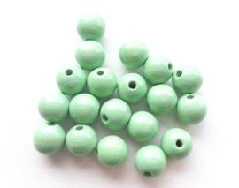 Speenkoord Kraal Hout Pastel Groen 12mm