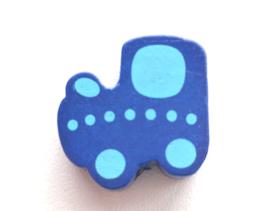 Locomotief Donker Blauw/Baby Blauw 22x20mm