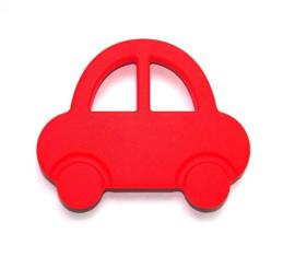 Silicone Bijt Auto Rood