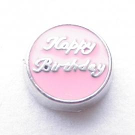 MC016 Happy Birthday Licht Roze