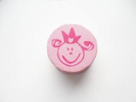 Speenkoord Kraal Baby Licht Roze 16mm